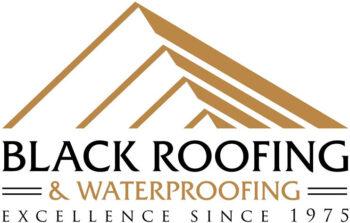 Black Roofing and Waterproofing Logo